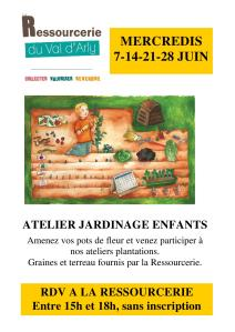 affiche atelier jardinage
