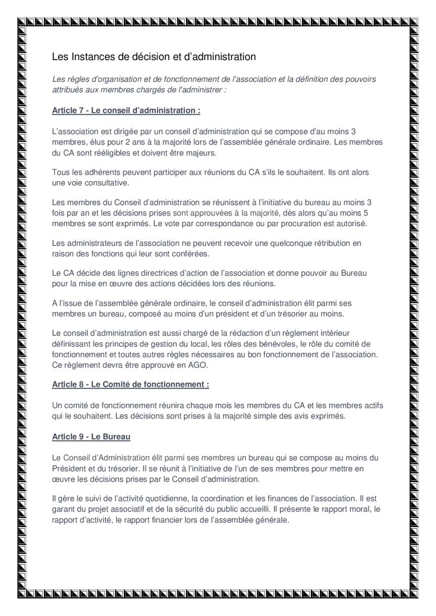 statuts de l'association page 3