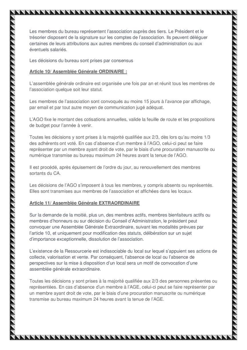 statuts de l'association page 4