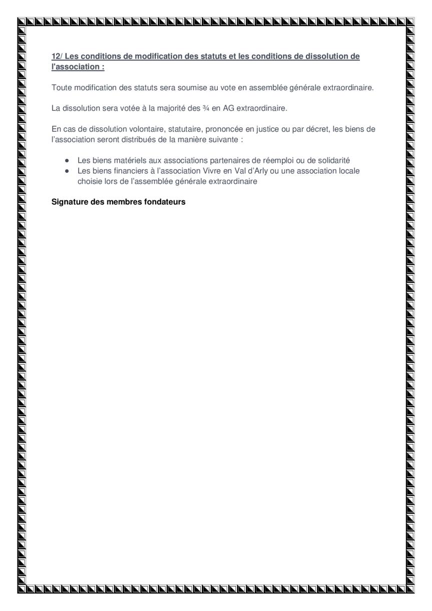 statuts de l'association page 5